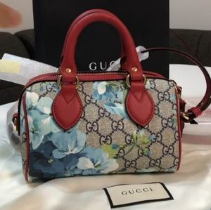 Gucci top handle Boston Bloom crossbody handbag
